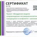 сертификат фонда на сайт